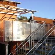 Metallbau - Balkon mit Vordach - Erhardt-Metallgestaltung